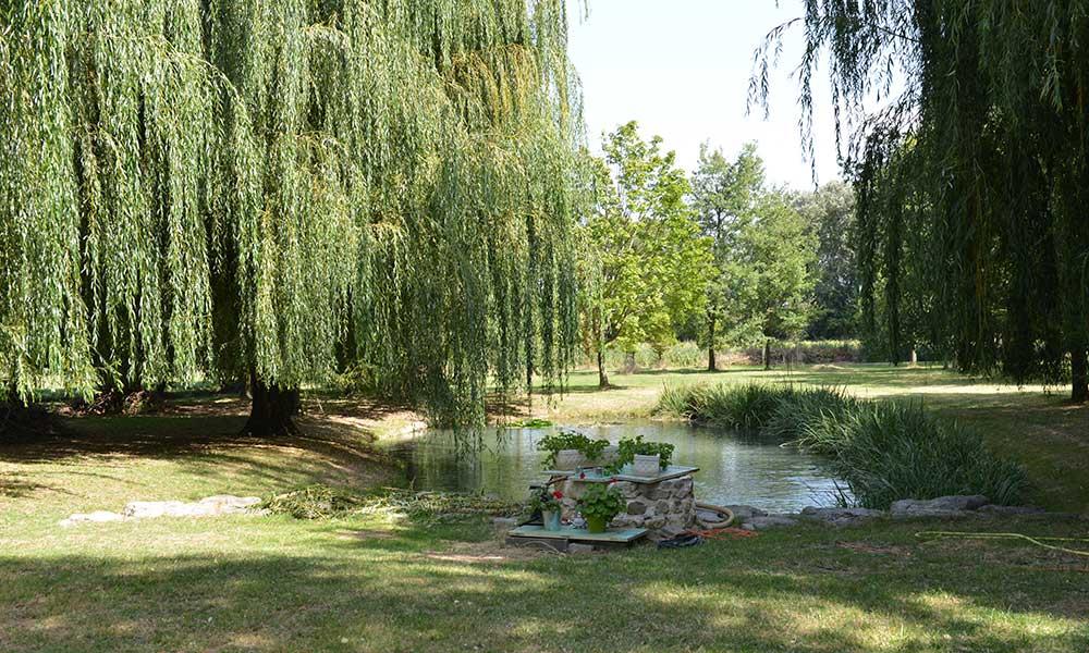 Garten des Seminarhauses in Upie - Sprachurlaub in Frankreich